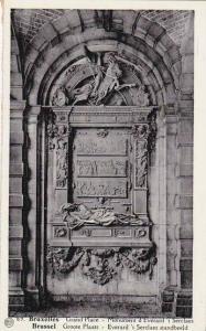 Belgium Brussels Grand Place Monument d'Everard t Serclaes