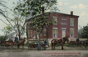GREENVILLE , Rhode Island , 00-10s ; Fire Wagons at National Exchange & Smith...