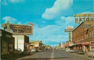 Elko Nevada Idaho Street Automobiles Postcard Seaich 1950s Dexter 21-10444