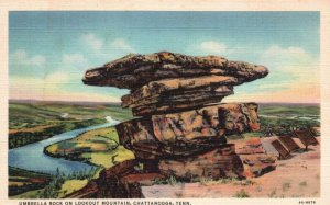 Chattanooga,TN, Umbrella Rock, Lookout Mountain, 1934 Vintage Postcard h3838