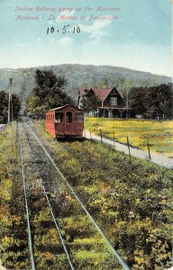 br105858 incline railway going up to mountains  montreal canada