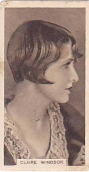 Abdulla Vintage Cigarette Card Cinema Stars Brown Back No 27 Claire Windsor  ...