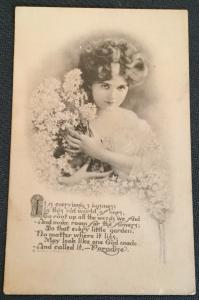 Vintage Postcard Used Beautiful Girl LB