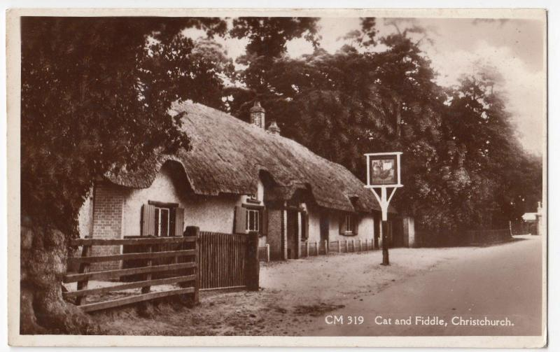 Hampshire; New Forest, Cat & Fiddle, Christchurch RP PPC, Unposted, By Sun Ray