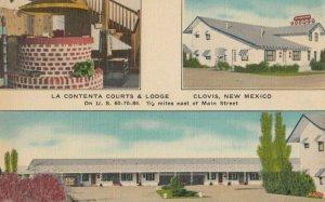 CLOVIS , New Mexico , 1930-40s ; La Contenta Courts & Lodge