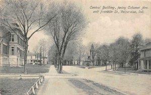 VALPARAISO, Indiana IN   CALUMET AVE~FRANKLIN STREET SCENE Central Bldg Postcard