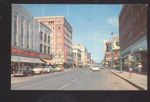 SIOUX CITY IOWA DOWNTOWN STREET SCENE 1950's CARS VINTAGE POSTCARD IA