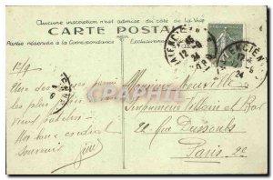 Old Postcard Valenciennes Pediment of the Hotel de Ville