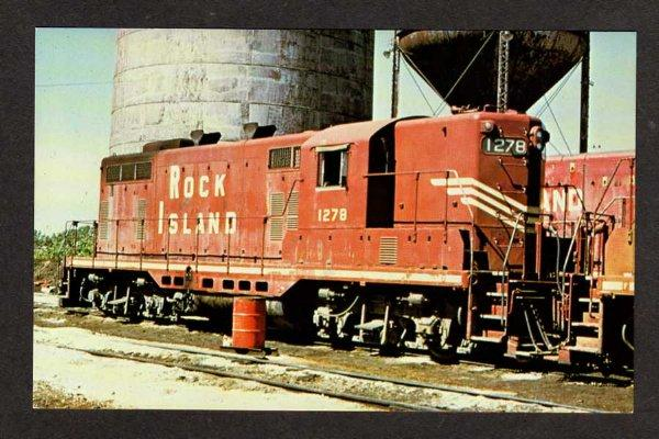 IL Rock Island Railroad Train Loco 1278 BLUE ISLAND ILLINOIS Postcard RR PC