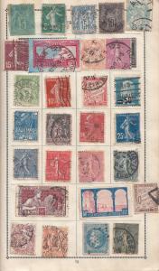 France Old Stamp Album Page Bundle Collection