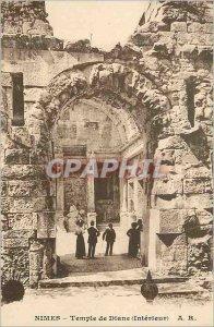 Postcard Old Nimes Temple of Diana (Interior)