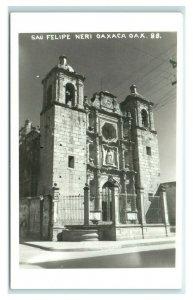Postcard San Felipe Neri Oaxaca, Mexico RPPC Y62