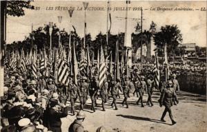 CPA PARIS Les Fetes de la Victoire 1919 Les Drapeaux Américains (218829)
