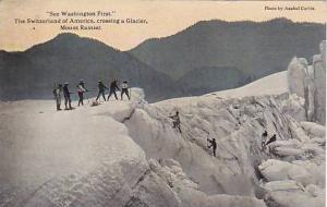Crossing a Glacier, Mount Rainier , Washington , 00-10s