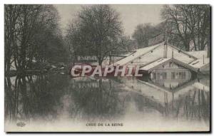 Postcard Old Paris Crue of the Seine January 1910 Flood