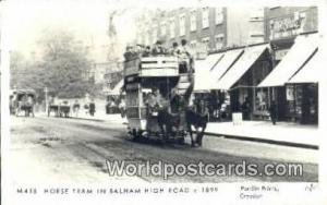 United Kingdom, UK, England, Great Britain Horse Tram Balham High Road Balham...