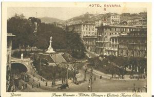 Italy Genova, Hotel Bavaria, Piazza Corvetto, Galleria Elena