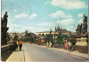Czech Republic, Prague, Praha, Charles Bridge, 1960s used Postcard