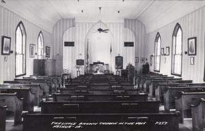 Iowa Nashua The Little Brown Church In The Vale Interior Real Photo