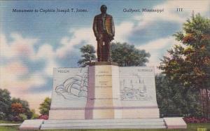 Mississippi Gulfport Monument To Captain Joseph T Jones