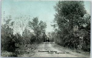 Algona, Iowa Postcard Pleasant Drive Automobile Bridge CU Williams 1910 Cancel