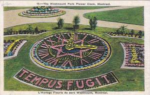 Air view, The Westmount Park, Flower Clock, Montreal, Canada,  30-40s