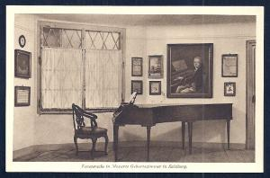 Window Corner Mozart's Room w/Piano Austria unused c1920's