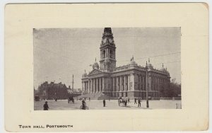 Hampshire; Town Hall, Portsmouth PPC By Portsmouth PC Publishers, Unused, c 1910