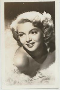 Lana Turner stage actress close up rppc  postcard RPPC signed real photo