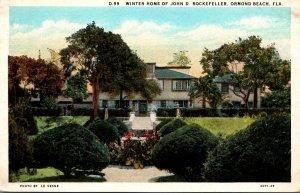 Florida Ormond Beach Winter Home Of John D Rockefeller Curteich