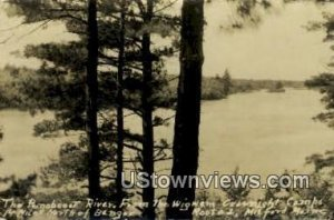 Real Photo, Penaboost River in Milford, Maine