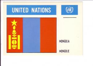 Mongolia, Flag, United Nations