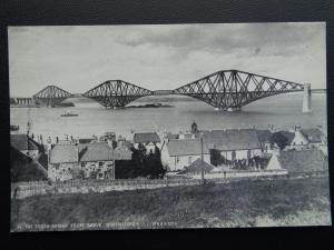 Scotland THE FORTH BRIDGE from above QUEENSFERRY - Old Postcard by W.R.& S.