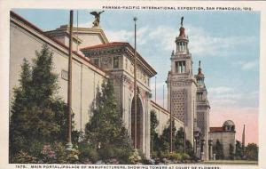 Towers At Court Of Flowers Panama Pacific Int Expo San Francisco 1915