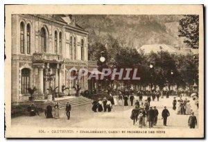 Old Postcard Cauterets Establishment Eggs Casino and Promenade