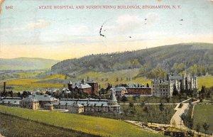 State Hospital and Surrounding Buildings Binghamton, New York, USA 1908