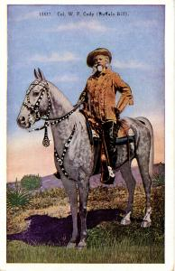 Famous People - Buffalo Bill.   On his favorite horse Isham