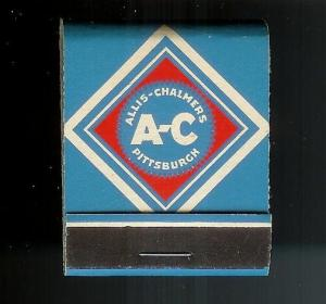 ALLIS CHALMERS MANUFACTURING 1950's Full Unstruck Matchbook