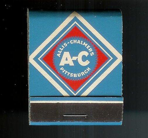 ALLIS CHALMERS MANUFACTURING 1950's Full Unstruck Matchbook