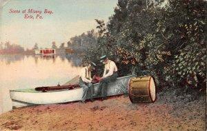 LPS01 Erie Pennsylvania Misery Bay Scene Postcard