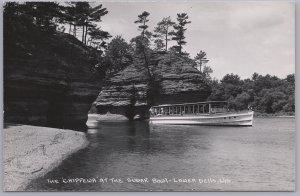 RPPC-Wisconsin Dells, Wis., The Chippewa at the Sugar Bowl, Lower Dells