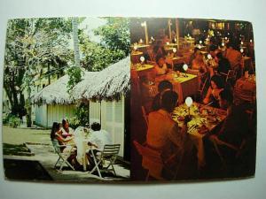 pre-1980 MONTEGO BAY BEACH HOTEL & RESTAURANT in Jamaica Unused Postcard y7853