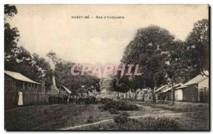 Postcard Old Nossy Be Rue d & # 39Andouane Madagascar Nossi Be
