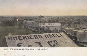REGINA, Saskatchewan, Canada, 1900-1910s; Birds' Eye View, Looking East