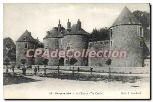 Old Postcard Peronne 1914 Chateau