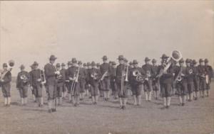 Military Band 1908 Real Photo
