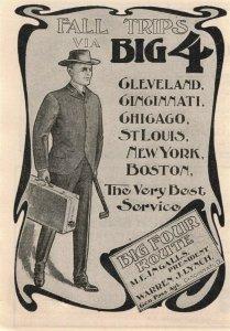 1903 Big Four Railroad CCC&StL Original Print Ad 2T1-47