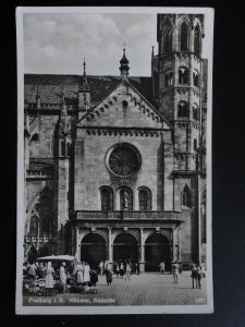 Germany: Freiburg I.B. MUNSTER, Sudsette - Shows Street Market - Old RP Postcard