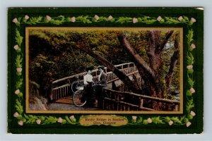 Glasgow, UK-United Kingdom, Rustic Bridge In Rouken, Vintage Postcard