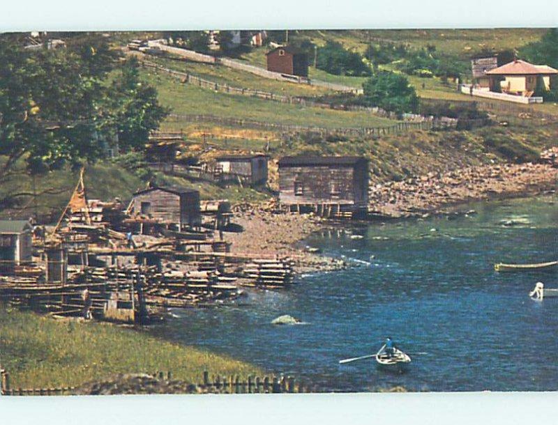 Pre-1980 SMALL BUILDINGS Bonne Bay by Rocky Harbor Newfoundland NL AD6374